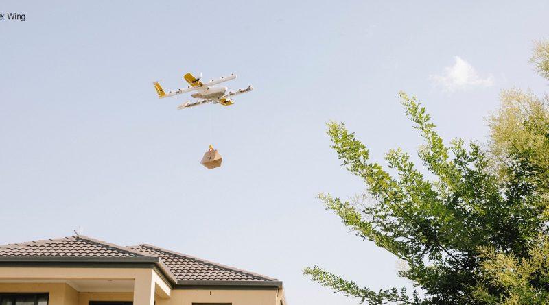 дрон във въздуха