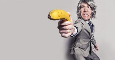 мениджър с банан