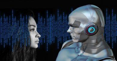 момиче и робот
