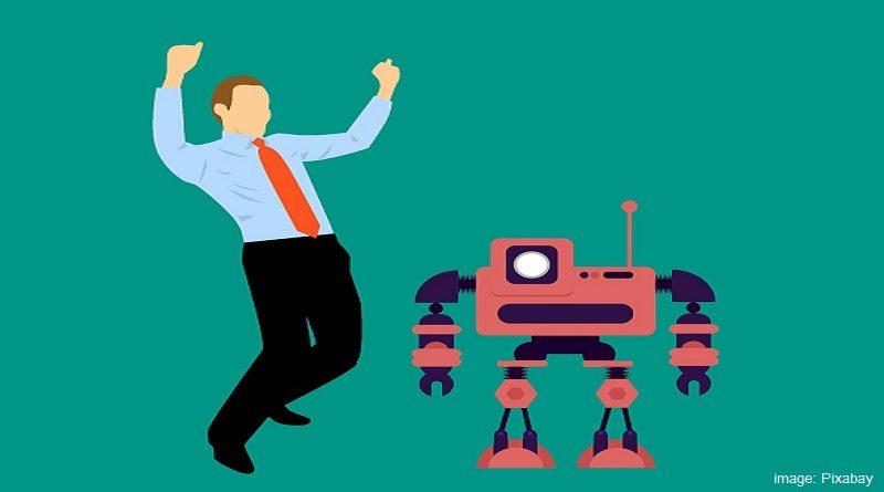 робот и човек