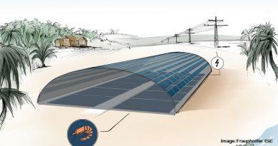 ферма за скариди и слънчева инсталация