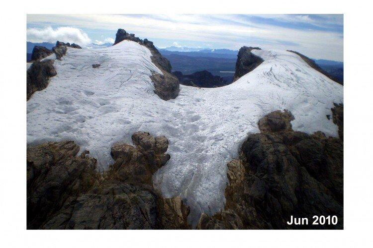 ледникът през 2010 година