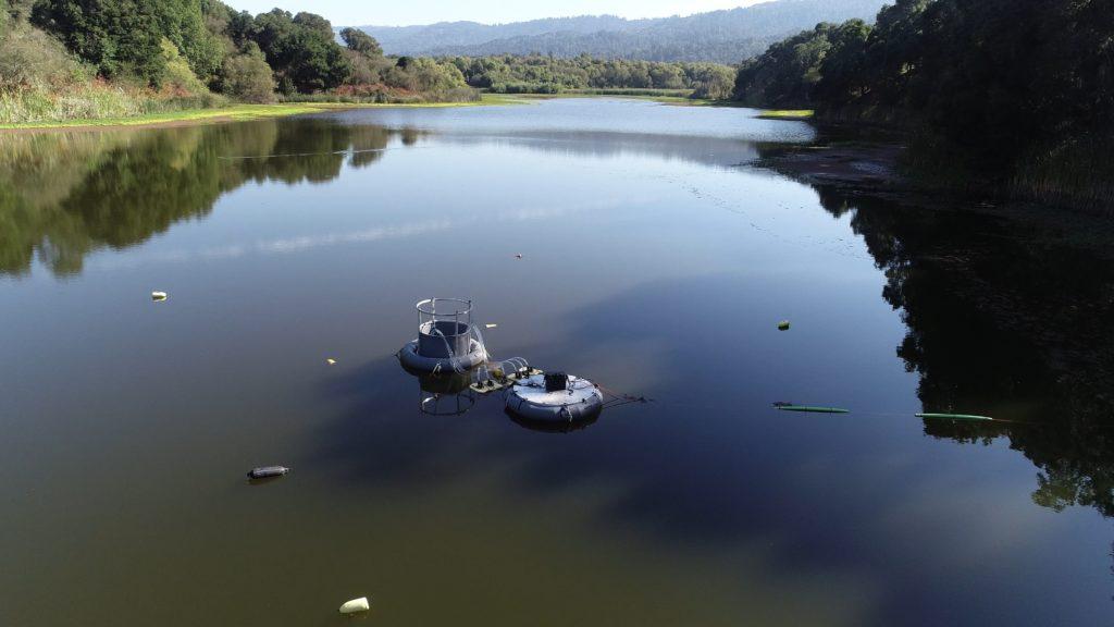Полеви експеримент на даунуелинг във водоема Сиърсвийл в Калифорния