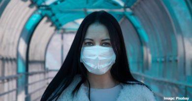 жена с маска