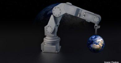 робот и земя