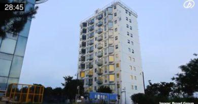 С помощта на иновационна технология китайската компания Broad Group е построила 10-етажен блок за  28 часа